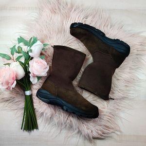 Lands end fleece trunk suede boots